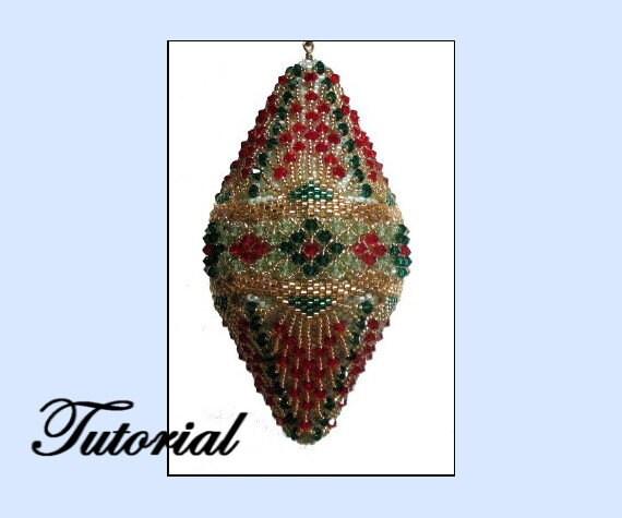 Beaded Diamond: Christmas Diamond Beaded Ornament
