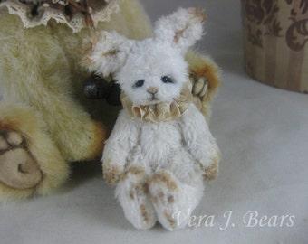 "Miniature Artist Bunny Rabbit for Bear or Doll Handmade 3"" by Vera J.Bears"