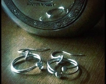 Fine Silver Hoop Earrings - The Phlox Earrings from Sandra Eileen Designs