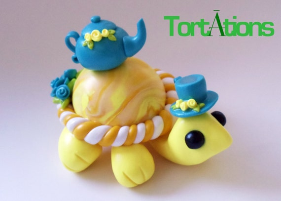 Tea Set Turtle Figurine