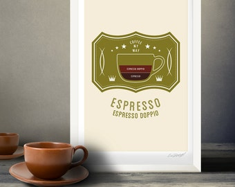 Coffee Poster by Im Different Press - Espresso