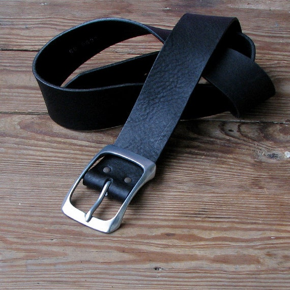 vintage distressed wide leather belt black womens by