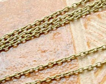 5 meters  Antiqued Brass finished iron round cable chain 2.5mm - unsoldered