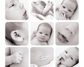 Newborn template, Storyboard template, Story board, 12x12, Collage template, Blog Board, photoshop template, baby template, photographer