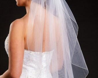 1 Layer Waist Length Veil