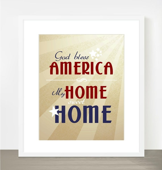 Items similar to american decor patriotic home decor 4th for Patriotic home decorations