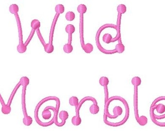 Wild Marble Machine Embroidery Fonts 1398