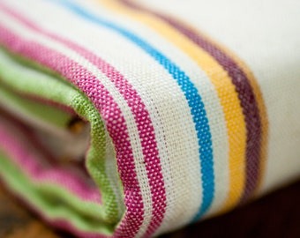 pestemal/peshtemal/bath towel/striped/cream/colorful stripes/beach and spa towel/turkish towel/%100 cotton