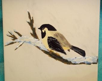Chickadee on Snowy Bough
