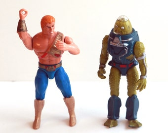 Vintage Masters of the Universe he man and slush head figures 1988