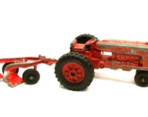 Hubley Kiddie Toy Tractor and Plow