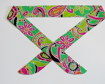 Neck Cooler Wrap, Stay COOL Tie Paisley Floral Body Head Heat Relief Cooling Bandana Scarf Band, Reusable, Neon Green Pink Orange iycbrand
