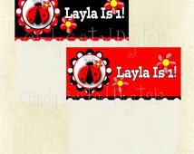Ladybug Personalized Favor Topper PDF Will Make Your Party A Flying Success