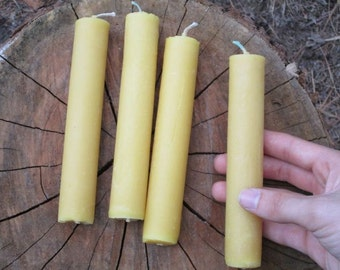 "Organic Beeswax Candles, Handmade, Size: 1"" Diameter x 6"" Tall - Listing is for one candle ."