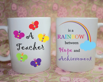 Teacher Thank you Mug - A Teacher is...  Made to Order with Free Gift Box