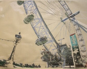 Drawing of the London Eye.