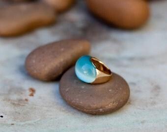 Blue Semi Precious Stone Ring