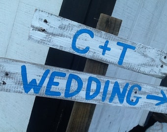 Rustic Wedding Directional sign, wedding sign, barn wedding sign, country wedding sign, beach wedding sign