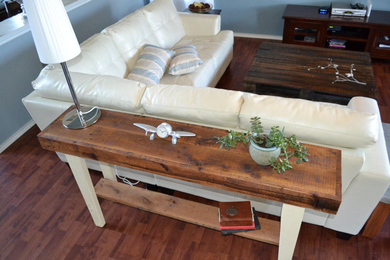 Custom Order for Anne Reclaimed Wood Sofa Table by KreateHome