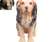 Personalized pet sculpture portrait / custom pet figurine handmade from photo