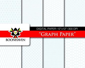 """Digital Paper - Graph Paper 8-pack 12""""x12"""" 300dpi"""