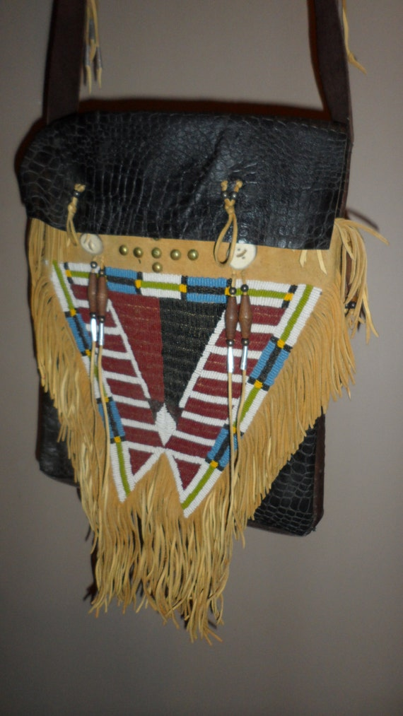 Items similar to sale native american handmade indian bag for Native american handmade crafts