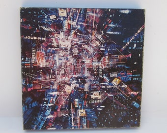 TIME SQUARE Puzzle 1968 Vintage Collectible Neon Explosion of New York Night-Time Square Puzzle. Complete good condition-Collectible