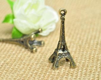 8pcs Antique Bronze Large 3D Eiffel Tower Charms 11.6x12x39mm MM311
