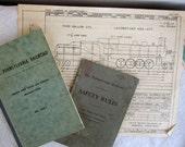 4 Railroad Operating Manuals Employee manuals vintage railroad
