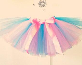pink, white, blue (cotton candy) tutu