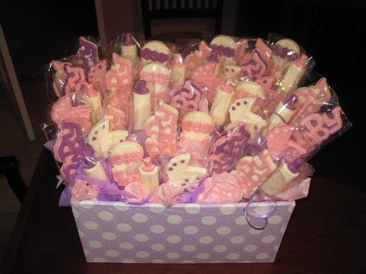 Marvelous Baby Shower Chocolate Lollipops Custom Baby Shower Centerpiece And Baby  Shower Favors