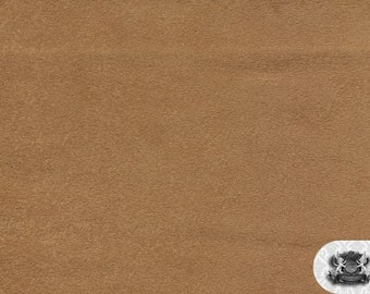 """Micro PASSION SUEDE Camel 6 Fabric / 58"""" Wide / Sold By the Yard"""