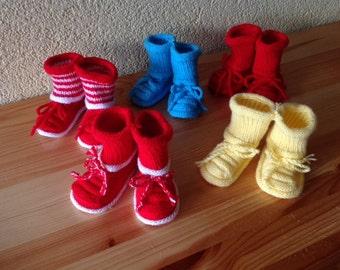 Baby booties yellow Baby Booties  yellow Baby Slippers Newbornyellow booties
