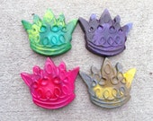 Princess Crown Shaped Recycled Crayons Set of 4