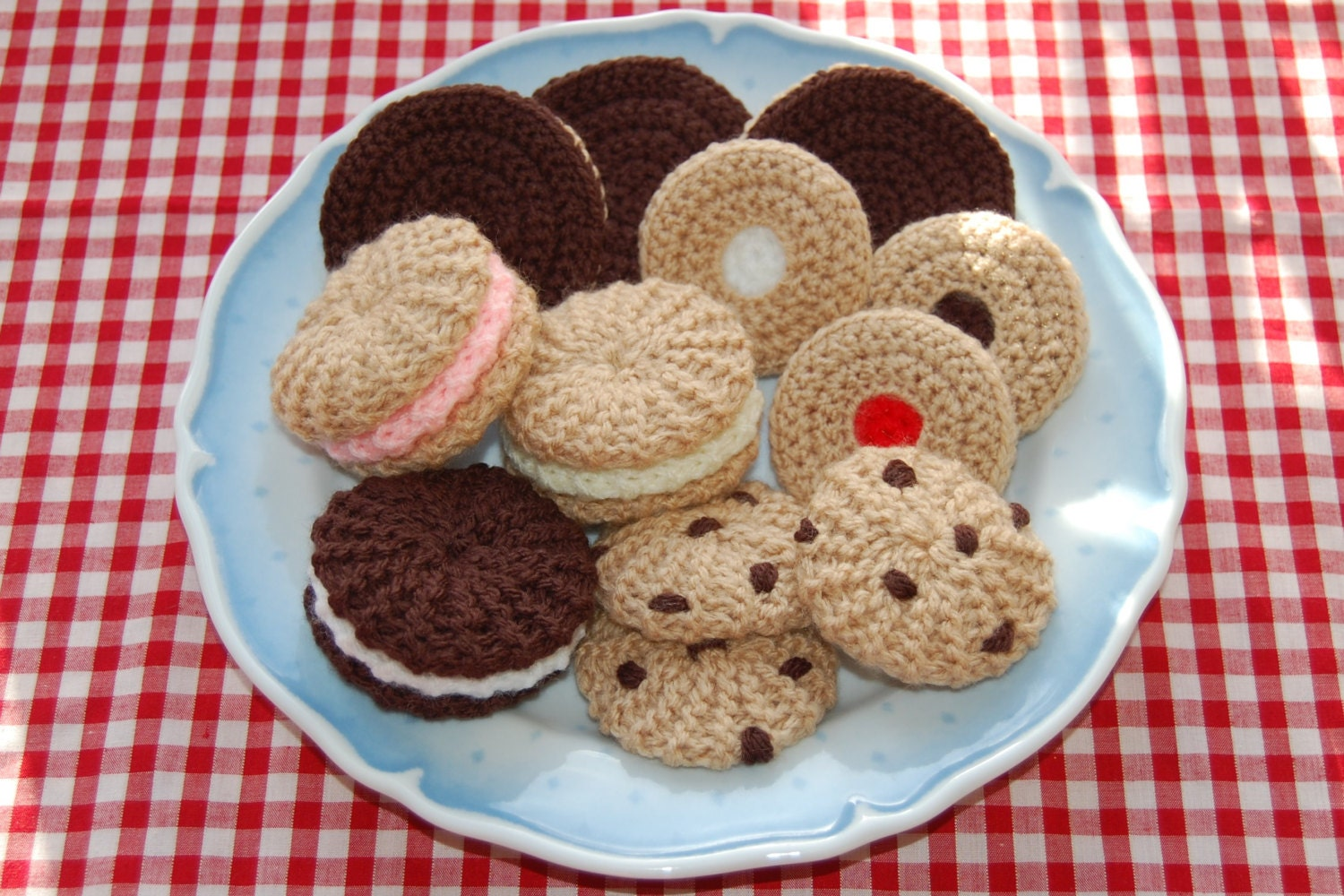 Knitting Crochet Pattern for a Selection of Biscuits