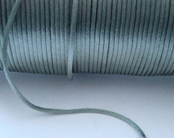 Rattail rat tail jewellery cord silver grey 5 metres 5m