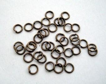 Antique bronze jumprings jump rings 5mm pack of 200
