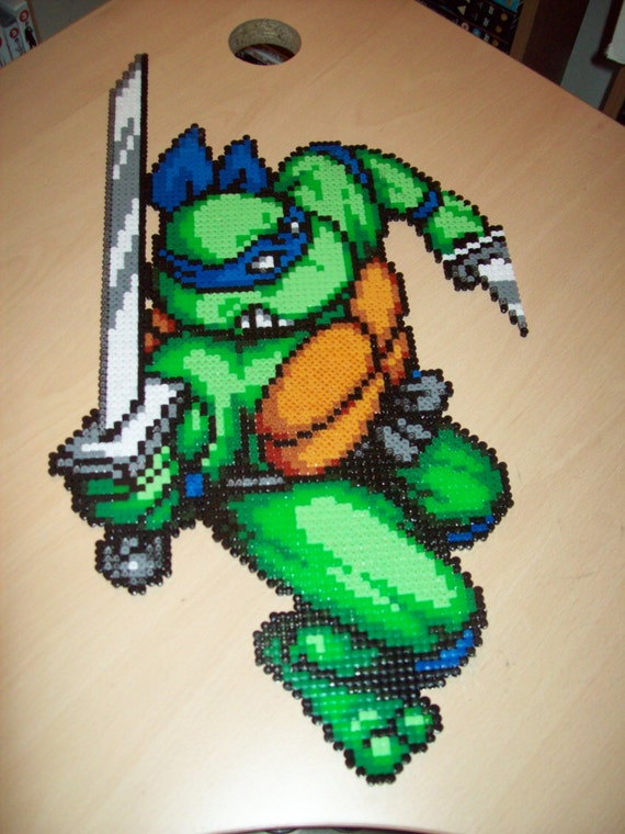 Items similar to teenage mutant ninja turtles large leonardo tmnt hama