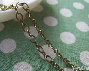 16ft (5m) of Antique Bronze Brass Figure 8 Connector Chain A2029