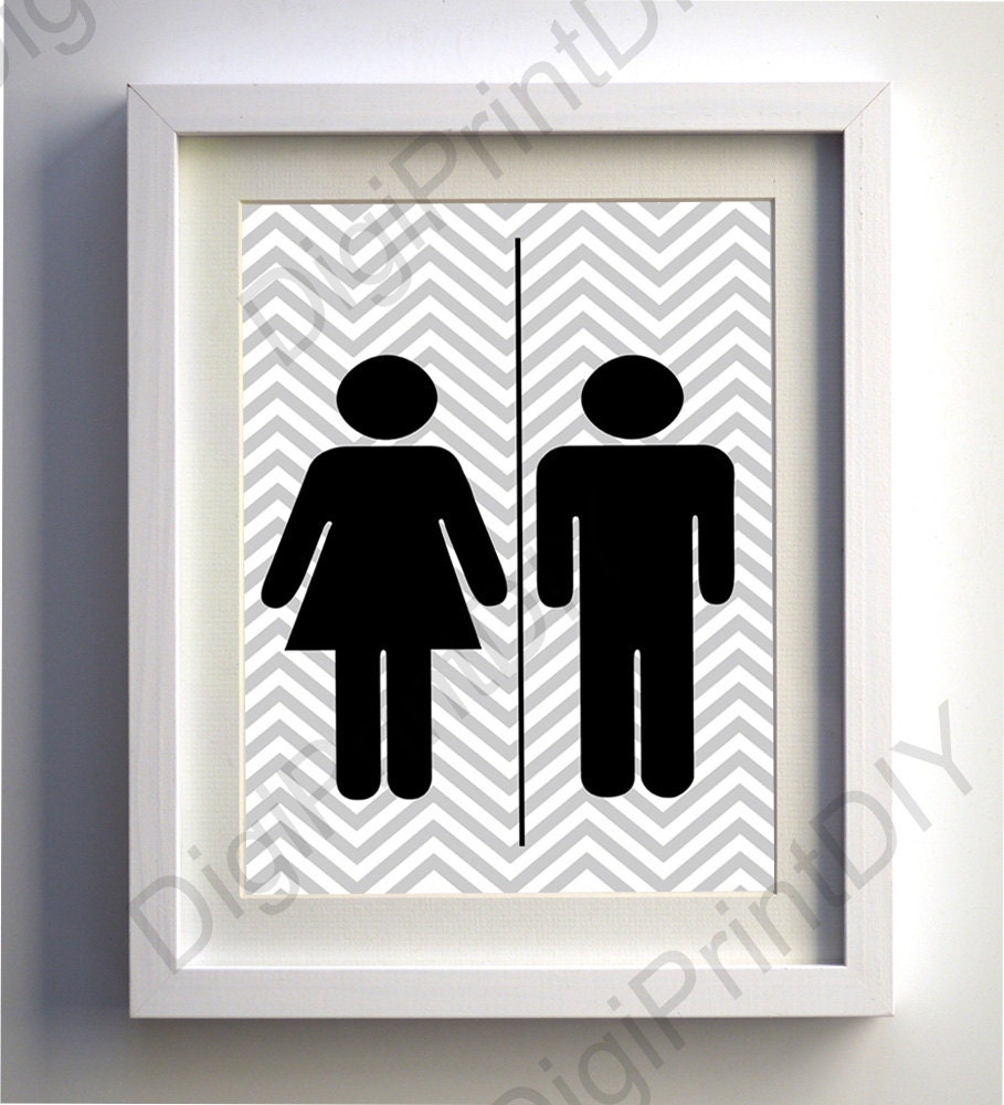 Printable bathroom sign - Bathroom Sign Printable