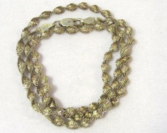 Vintage Sterling silver Italian chain 18'' Length
