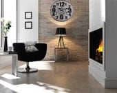 Large Vintage Interior Design London Kensington Station Decor Wall Clock Art - WallOR