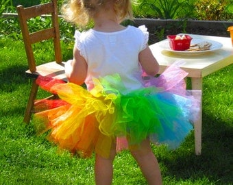 Rainbow Tutu - Kid's Tutu - Children's Tutu - Party Tutu