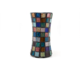 Metallic Glass Mosaic Vase