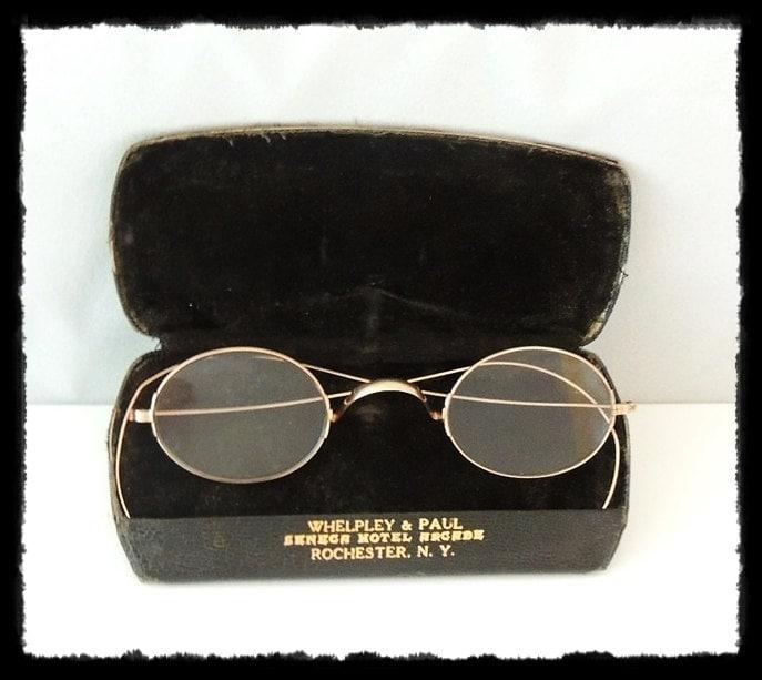 Solid Gold Eyeglass Frames : Antique CHILDRENS SPECTACLES EYEGLASSES 9K Solid Gold