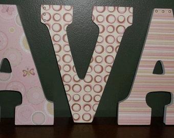 3 Letter Name Wall Art