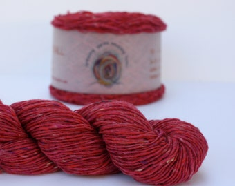 Spinning Yarns Weaving Tales - Tirchonaill 522 Pink 100% Merino Yarn for Knitting, Crochet, Warp & Weft