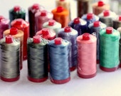Aurifil 12 wt Cotton Mako Thread (383 yard spool)- One spool, color of your choice
