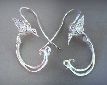 Sterling Silver Long Tail Birds