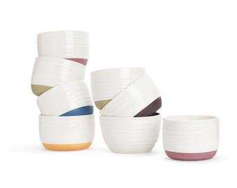 CHRISTMAS SALE - 50% off - set of 4 ceramic salad / cereal / yogurt / ice cream bowls